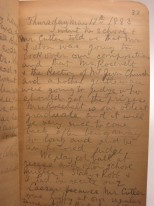 Diary of Reginald Fairfax Harrison, 1883-1884, in the Manuscript Collection. Museum of the City of New York. 71.123.
