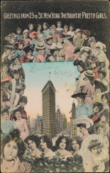 Souvenir Post Card Company.  Greetings from 23rd St. New York, The Haunt of Pretty Girls, ca. 1907.  Museum of the City of New York.  X2011.34.109.