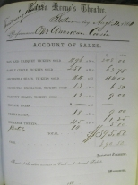 Account book for Laura Keene's Theatre, p. 185, August 11, 1860. Theater Collection, Museum of the City of New York. 39.500.153