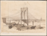 John M. August Will (1834-1910). Sketch of View of Bridge from Sand St. Brooklyn. 1873. Museum of the City of New York. 29.100.1986