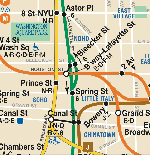 1980 Nyc Subway Map.The Broadway Lafayette Transfer And The Evolution Of The City S