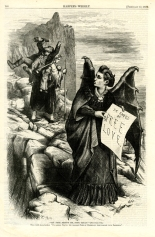"Illustration from Harper's Weekly. ""Get Thee Behind Me, (Mrs.) Satan!"" Thomas Nast (1840-1902), 1872."