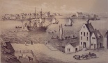 Fulton Ferry House in 1746, ca. BLANK.  South Street Seaport Museum, Print Collection.