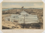 Print issued by John Bachmann. Birds Eye View of the New York Crystal Palace and Environs. John Bachmann, 1853. Museum of the City of New York. 29.100.2387