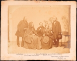 Unknown photographer. Martin Green, Mary Ruggles Green Knudsen, Andrew Haswell Green, Julia E. Green, Dr. Samuel F. Green. ca. 1873. 2011.5.9