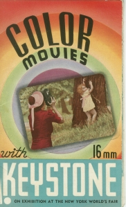 Color Movies with 16mm Keystone, 1939, in the 1939-1940 New York World's Fair Collection. Museum of the City of New York.
