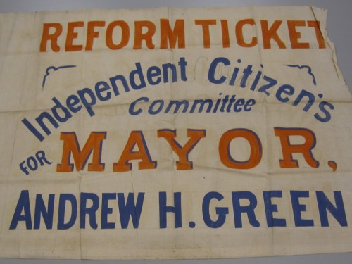 Reform Ticket, Independent Citizen's Committee, Mayor, Andrew H. Green. 1875-1876. Museum of the City of New York. 2011.5.13.