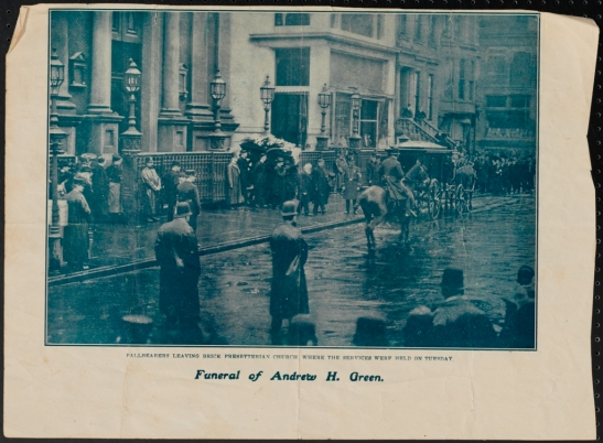 Funeral of Andrew H. Green. 1903. Museum of the City of New York. 2011.5.15.