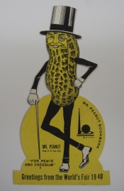 Mr. Peanut Bookmark, 1939, in the 1939-1940 New York World's Fair Collection. Museum of the City of New York.