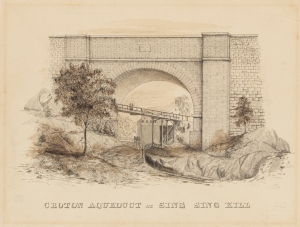 F. B. (Fayette Bartholomew) Tower. Croton Aqueduct at Sing Sing Kill. ca. 1842. Museum of the City Of New York. 02.35.10
