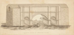 F. B. (Fayette Bartholomew) Tower. Aqueduct Bridge at Clendinning Valley. ca. 1842. Museum of the City of New York. 02.35.3