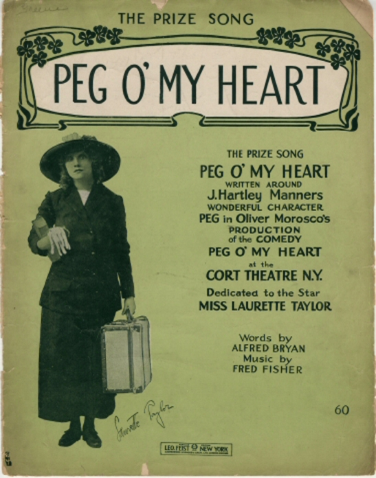 "Sheet music for ""Peg o' my heart"", 1913. Museum of the City of New York. 70.49.148"