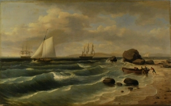 BeforeThomas Birch (1779-1851). View of Staten Island from Sandy Hook. 1827. Museum of the City of New York. 33.306.2