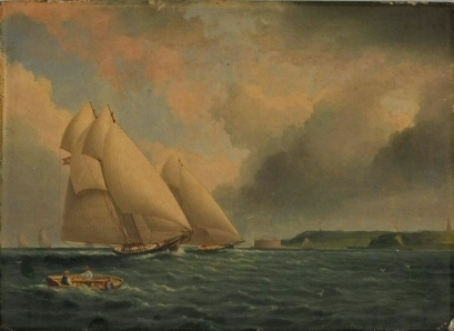 BeforeJames Edward Buttersworth (1817-1894). Yacht Race Off Fort Wadsworth. ca. 1870. Museum of the City of New York. 62.140.2