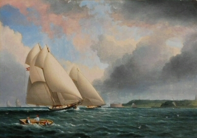 AfterJames Edward Buttersworth (1817-1894). Yacht Race Off Fort Wadsworth. ca. 1870. Museum of the City of New York. 62.140.2