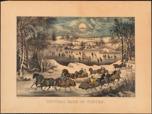 Currier & Ives. Central Park in Winter. ca. 1885. Museum of the City of New York. 57.100.5.2