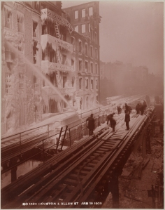Manhattan Railway Company. Houston & Allen St. 1903. Museum of the City of New York. F2012.53.155D