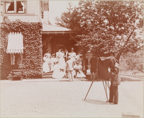 Byron Company. Photographer at the Tiffany-Cameron Wedding, Staten Island. 1895.  Museum of the City of New York. 93.1.1.18331