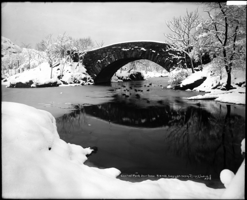 Irving Underhill (d. 1960). Central Park Snow Scene. 1923.Muiseum of the City of New York. X2010.28.362