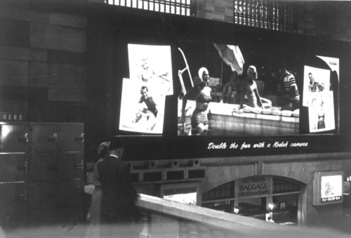 John Harry Lufbery. Kodachrome Ad, Grand Central Station, #2. 1947. Museum of the City of New York. 2004.18.5