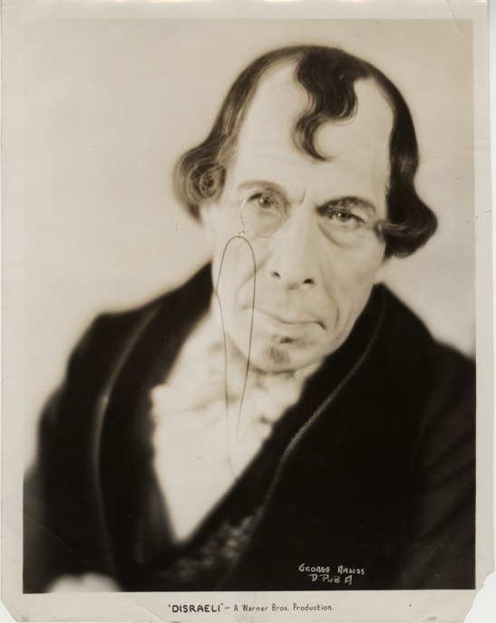 Warner Bros.[George Arliss in Disraeli, 1929.] Museum of the City of New York. 37.298.544