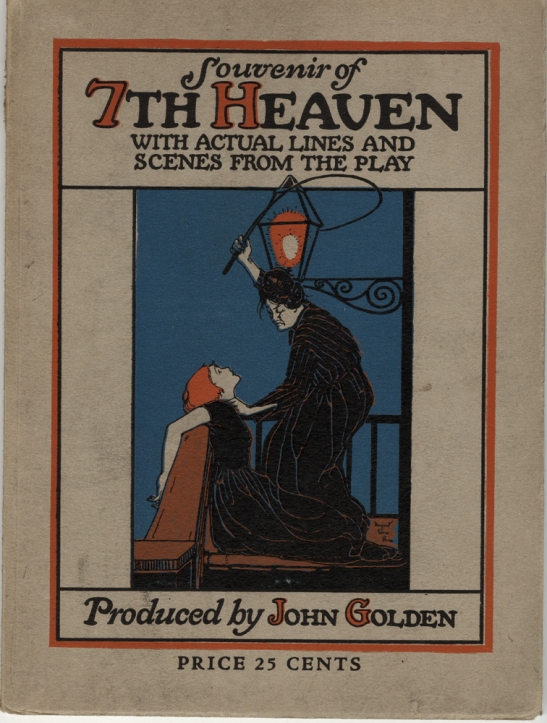 Souvenir program for Seventh Heaven, 1923. Museum of the City of New York. 79.80.38