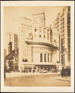 Ziegfeld Theatre. 1927. Museum of the City of New York. X2010.7.2.84
