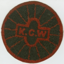 Kings County Wheelmen Sweater Patch, 1896, from the Collection on Sports.  Museum of the City of New York. 49.300.2.
