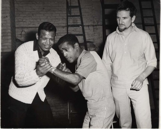 Sam Siegel. Sugar Ray Robinson and Sammy Davis, Jr. in rehearsal for Golden Boy. 1964. Museum of the City of New York. 68.80.8875