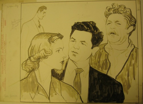 William Auerbach-Levy. [[Lee J. Cobb, John Garfield, Joseph Wiseman, Bette ] 1952. Museum of the City of New York. 64.100.1717.