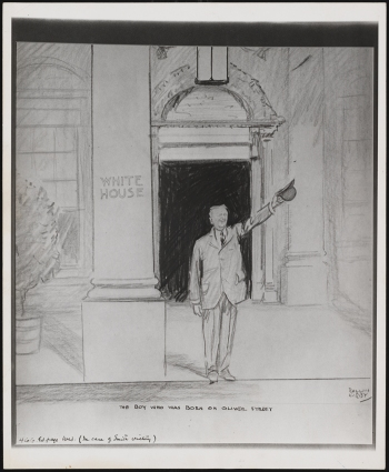 "Cartoon which would have been published in ""The World"" if Smith had won the 1928 presidential election. 1928. Museum of the City of New York. 43.366.48"