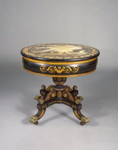 Courtesy, Brooklyn Museum of Art, Center Table, John Finlay, Della Valle Brothers, circa 1825, Baltimore, M.D., gift of the American Art Council and Designated Purchase Fund, 88.24
