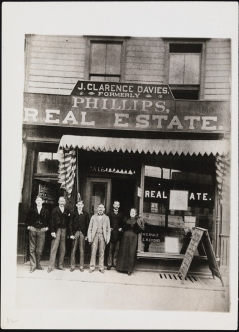 unknown photographer. J. Clarence Davies Real Estate Office, ca.1894. Museum of the City of New York, X2010.11.7075.