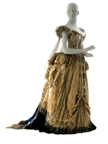 "Charles Frederick Worth House of Worth (Firm) Jean-Phillippe Worth (1856-1926). Fancy dress ensemble, ""Electric Light,"" worn by Mrs. Cornelius Vanderbilt at the 1883 Vanderbilt Ball. 1883. Museum of the City of New York. 51.284.3A-H"