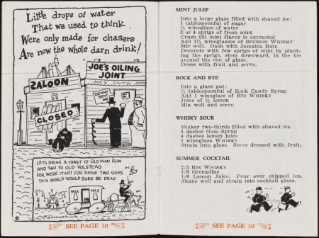 Excerpt from Mixed Company, a Book of Choice Recipes from Brook's, ca. 1930.  Museum of the City of New York. 56.71.73.