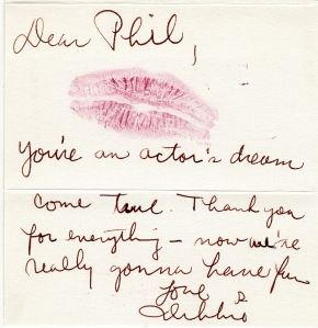 Note to Phil Friedman from Debbie Allen, 1986. Museum of the City of New York. 88.86.74.1