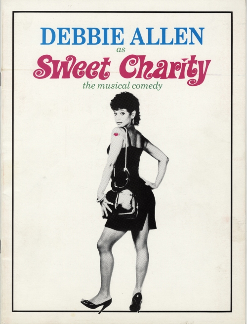 Souvenir program showing Debbie Allen as the title character in Sweet Charity, 1986. Museum of the City of New York. 88.86.93