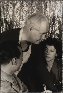 Carl Van Vechten. Corporal William Roney, Busboy Carl Van Vechten, Junior Hostess Janet Fox (Stage Door Canteen). March 5, 1943. Museum of the City of New York. 2010.10.4