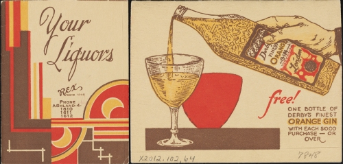 Cover of Rex's priocelist, ca. 1930, in the Collection on Nightlife. Museum of the City of New York. X2012.102.64.