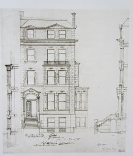 Detlef Lienau, Design for George Mosle Residence, 5 West 51st Street, N.Y., 1879. Courtesy of Detlef Lienau architectural drawings and papers, Department of Drawings and Archives, Avery Architectural and Fine Arts Library.