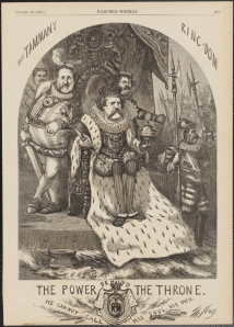 "Thomas Nast (1840-1902). The Power Behind the Throne ""He Cannot Call His Soul His Own."" 1870. Museum of the City of New York. 99.124.7."