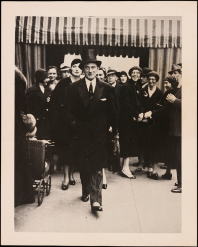 Unknown. Mayor Jimmy Walker walking down a street. ca. 1925-1935. Museum of the City of New York. F2012.58.866.