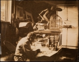 Unknown.  Thomas Nast at his Desk. ca. 1880.  Museum of the City of New York.  99.124.1.