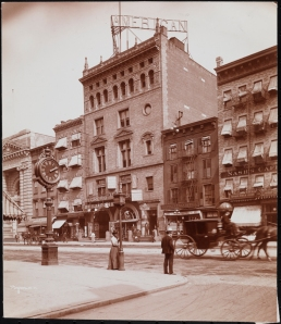 Byron Company (New York, N.Y.). Theatre, American, 42nd Street Between 7th & 8th Aves. ca. 1900. Museum of the City of New York. 29.100.1180