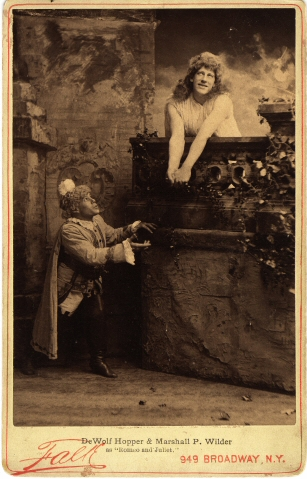 B. J. (Benjamin J.) Falk. [DeWolf Hopper and Marshall P. Wilder in Romeo and Juliet.] ca. 1893. Museum of the City of New York. 39.124.47