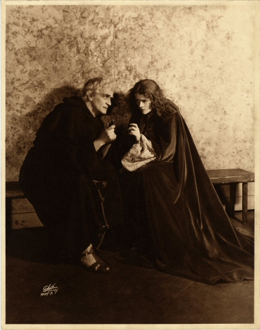 White Studio. [Sayre Crawley as Friar Lawrence and Eva Le Gallinne as Juliet.] 1930. Museum of the City of New York. 50.281.290