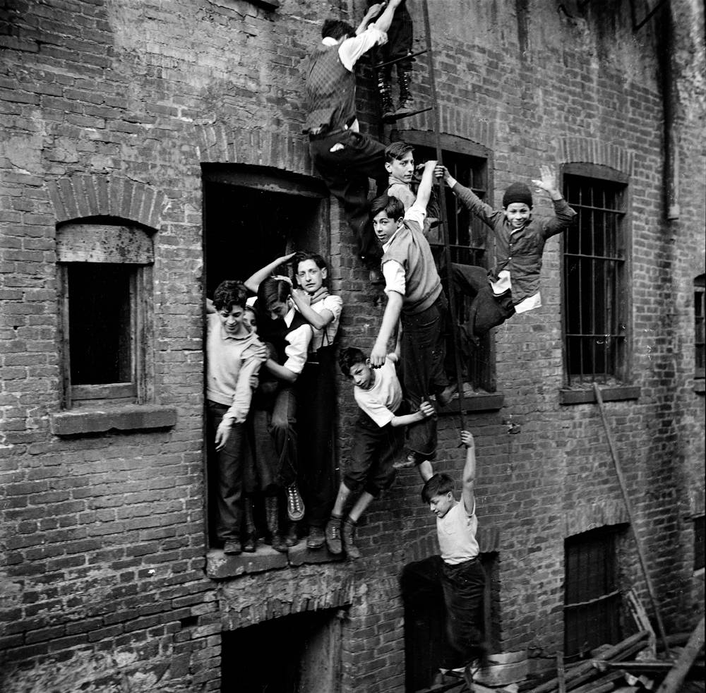 Fire Escape New York City 1940s : It s a hard knock life the city as playground mcny