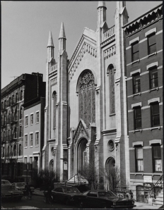 Edmund V. Gillon. Washington Square Methodist Church, 135-139 West 4th Street. ca. 1972. Museum of the City of New York. 2013.3.1.300