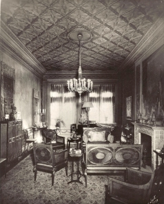 The drawing room at the Flagler home at 32 Park Avenue, early 20th century