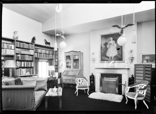 Juliana R. Force [residence]. Living room to window.
